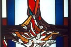 Philippshaus Marburg, Kapelle, eines von sechs Psalmfenstern (Psalm 36)